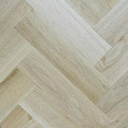 1m²: 22mm - Rustic Grade Oak - Solid - Herringbone Block Flooring - Unfinished - Lefts & Rights - 22x70x500mm - (1.4m²/pk)