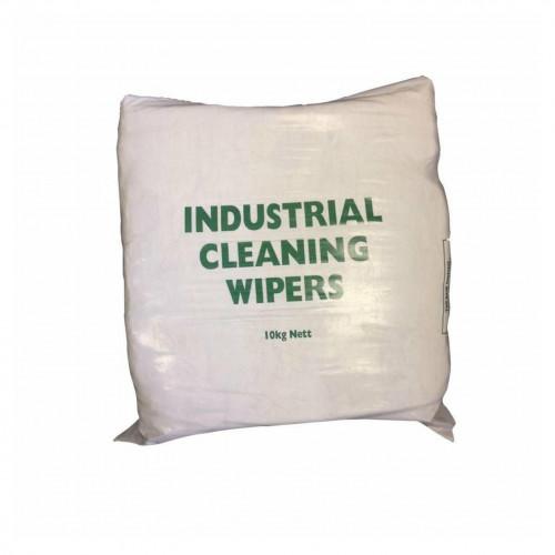 10kg Bag: FS - Rags - 100% Cotton - White