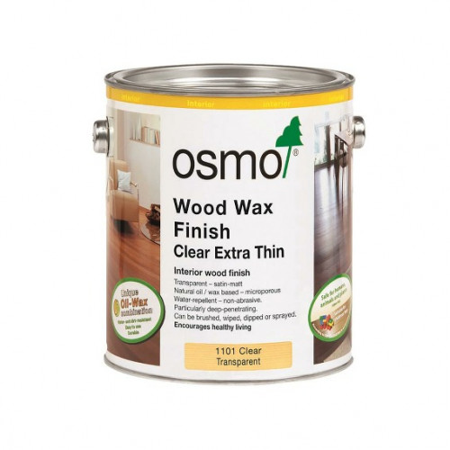 2.5ltr: Osmo - Wood Wax Finish Extra Thin - Clear Satin - (1101D)