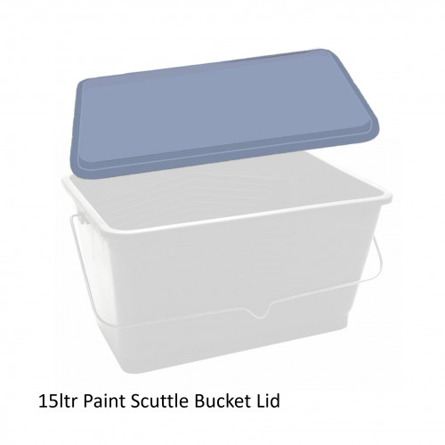 """FS - Clear Plastic Lid - For Lacquer Bucket Black - 15ltr/14.5"""""""