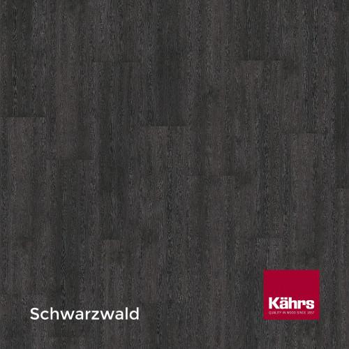 1m²: 6mm - Kahrs - Luxury Vinyl Tile - Wood Design - Monochrome - Schwarzwald C6 - 5G Click System - Ceramic Wear Resistant Layer - Rigid Core SPC + IXPE Sound Reducing Backing - 6/0.55x218x1