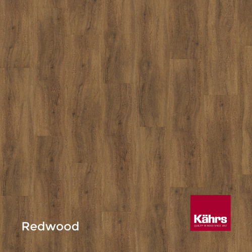 1m²: 6mm - Kahrs - Luxury Vinyl Tile - Wood Design - Traditional - Redwood C6 - 5G Click System - Ceramic Wear Resistant Layer - Rigid Core SPC + IXPE Sound Reducing Backing - 6/0.55x218x1210