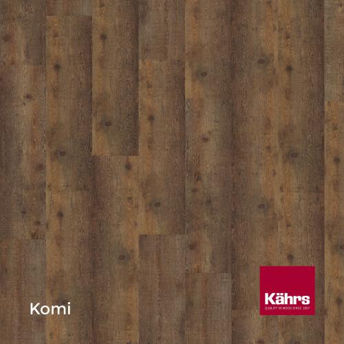 1m²: 6mm - Kahrs - Luxury Vinyl Tile - Wood Design - Rustic - Komi C6 - 5G Click System - Ceramic Wear Resistant Layer - Rigid Core SPC + IXPE Sound Reducing Backing - 6/0.55x218x1210mm - (2.