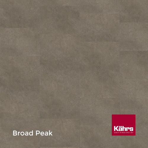 1m²: 2.5mm - Kahrs - Luxury Vinyl Tile - Stone Design - Common - Broad Peak - Dry Back System - Ceramic Wear Resistant Layer - 2.5/0.55x457x457mm - (5.01m²/pk)