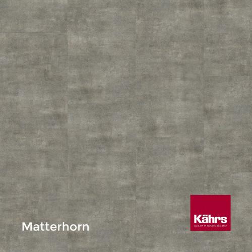1m²: 2.5mm - Kahrs - Luxury Vinyl Tile - Stone Design - Brilliant - Matterhorn - Dry Back System - Ceramic Wear Resistant Layer - 2.5/0.55x457x457mm - (5.01m²/pk)
