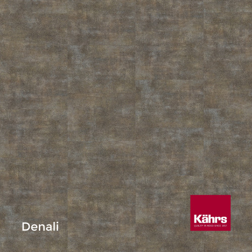 1m²: 2.5mm - Kahrs - Luxury Vinyl Tile - Stone Design - Brilliant - Denali - Dry Back System - Ceramic Wear Resistant Layer - 2.5/0.55x457x457mm - (5.01m²/pk)