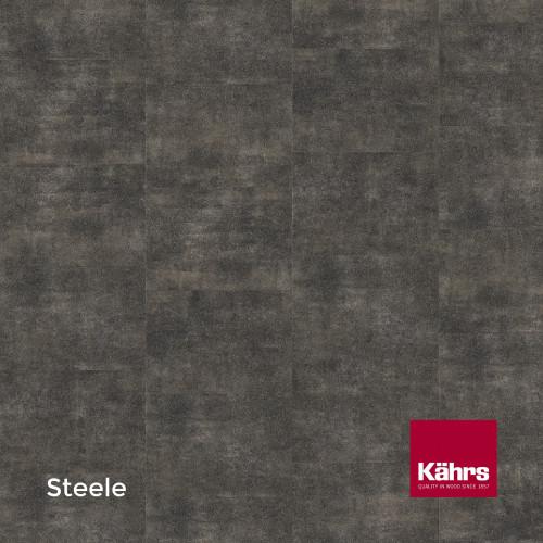 1m²: 2.5mm - Kahrs - Luxury Vinyl Tile - Stone Design - Brilliant - Steele - Dry Back System - Ceramic Wear Resistant Layer - 2.5/0.55x457x457mm - (5.01m²/pk)