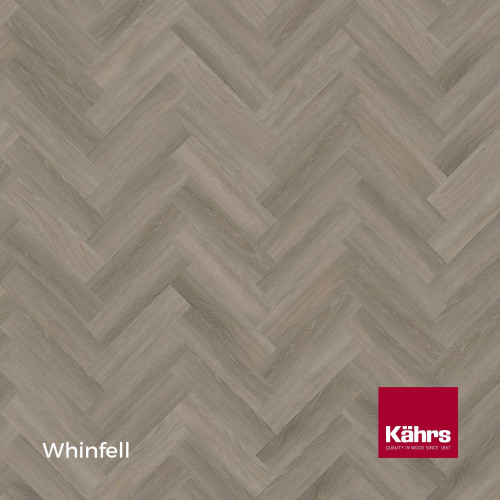 1m²: 5mm - Kahrs - Luxury Vinyl Tile - Wood Herringbone Design - Traditional - Whinfell - Rights - C5i Click System - Ceramic Wear Resistant Layer - Rigid Core SPC + IXPE Sound Reducing Backi