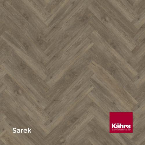 1m²: 5mm - Kahrs - Luxury Vinyl Tile - Wood Herringbone Design - Traditional - Sarek - Rights - C5i Click System - Ceramic Wear Resistant Layer - Rigid Core SPC + IXPE Sound Reducing Backing