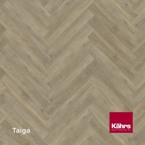 1m²: 5mm - Kahrs - Luxury Vinyl Tile - Wood Herringbone Design - Traditional - Taiga - Lefts - C5i Click System - Ceramic Wear Resistant Layer - Rigid Core SPC + IXPE Sound Reducing Backing -