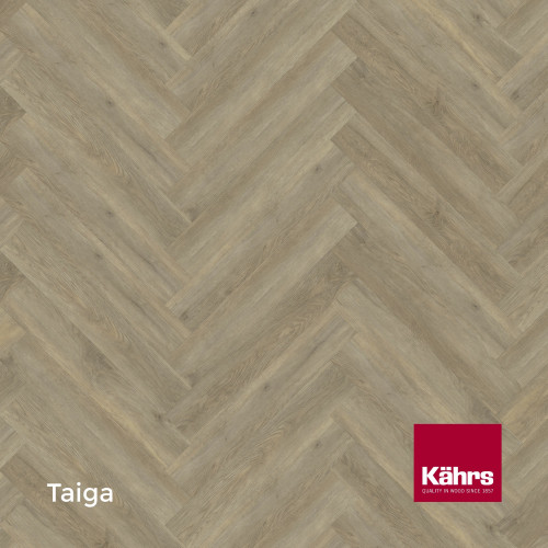 1m²: 5mm - Kahrs - Luxury Vinyl Tile - Wood Herringbone Design - Traditional - Taiga - Rights - C5i Click System - Ceramic Wear Resistant Layer - Rigid Core SPC + IXPE Sound Reducing Backing