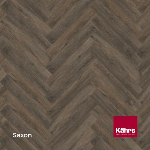 1m²: 5mm - Kahrs - Luxury Vinyl Tile - Wood Herringbone Design - Traditional - Saxon - Rights - C5i Click System - Ceramic Wear Resistant Layer - Rigid Core SPC + IXPE Sound Reducing Backing