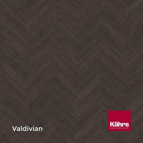 1m²: 2.5mm - Kahrs - Luxury Vinyl Tile - Wood Design - Valdivian Herringbone - HBD - Dryback System - Ceramic Wear Resistant Layer - 2.5/0.7x102x457mm - (2.78m²/pk)
