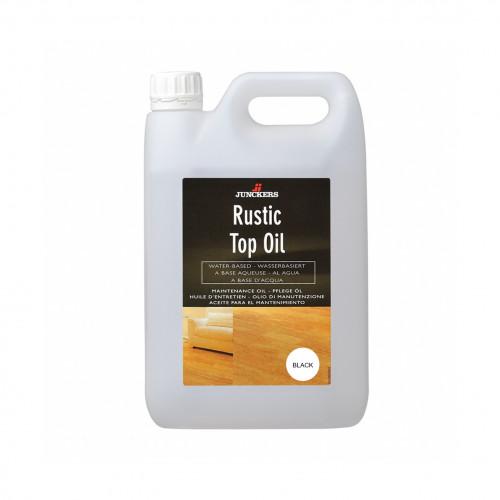 2.5ltr: Junckers - Rustic Top Oil - Black - UltraMatt - Waterbased Aqueous Alkyd Oil