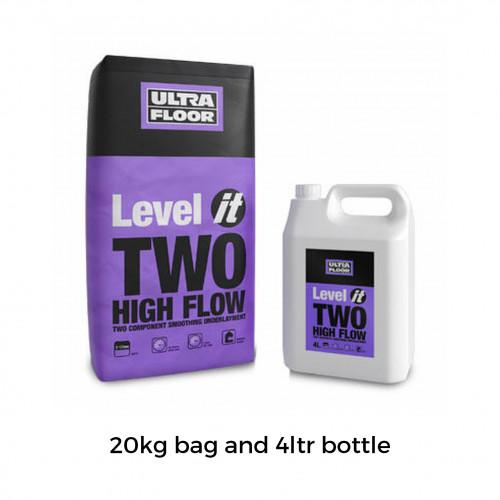 20kg Bag & 4ltr Bottle: UltraFloor - Level it 2 - High Flow 2K Levelling Compound