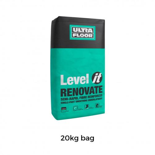 20kg Bag: UltraFloor - Level it Renovate - 1K Fibre Reinforced Levelling Compound