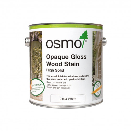 0.125ltr: Osmo - Opaque Gloss Wood Stain - White - (2104A)