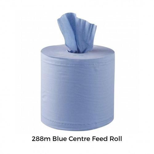 "FS - Wiper Roll - Centre Feed - Blue - 2ply - 150mm - 6"" (Blue Roll)"