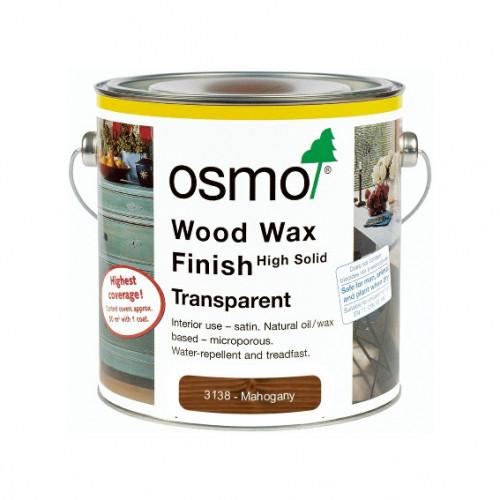 0.125ltr: Osmo - Wood Wax Finish Transparent Colour - Mahogany - (3138A)