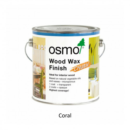 2.5ltr: Osmo - Creative Wood Wax Finish - Coral - (3183D)