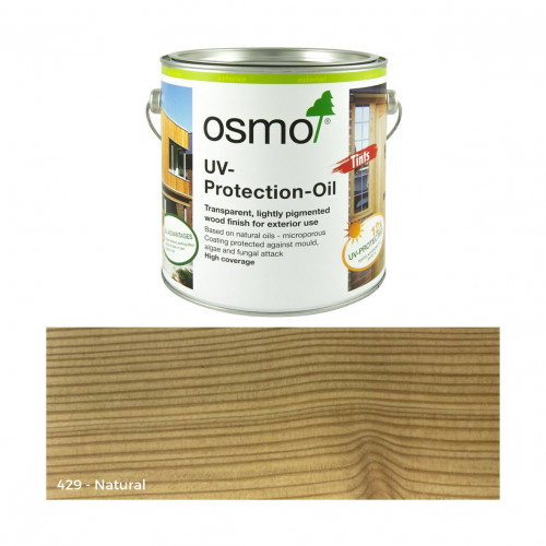 0.125ltr: Osmo - UV Protection Oil - Tints - with active ingredients - Natural Transparent - (429A)