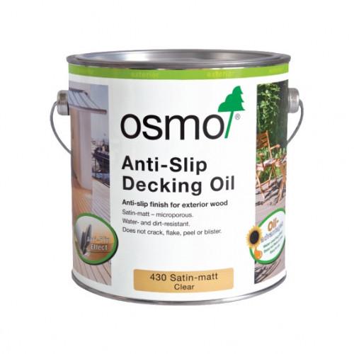 0.75ltr: Osmo - Decking Oil - Anti-Slip - Clear Satin Finish - (430C)