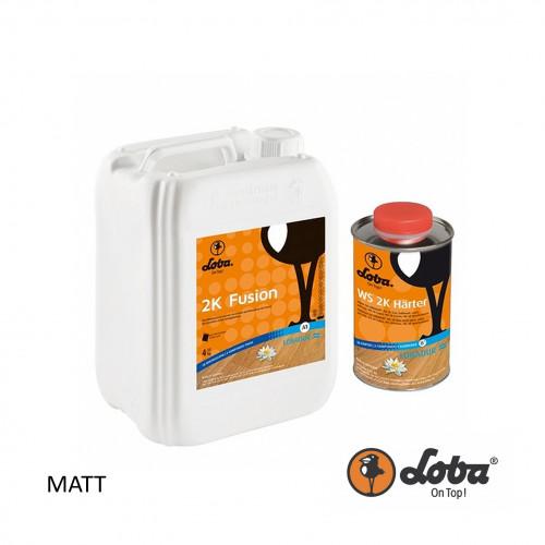 5ltr: Loba - Fusion 2k - 2K Wood Floor Lacquer - Matt