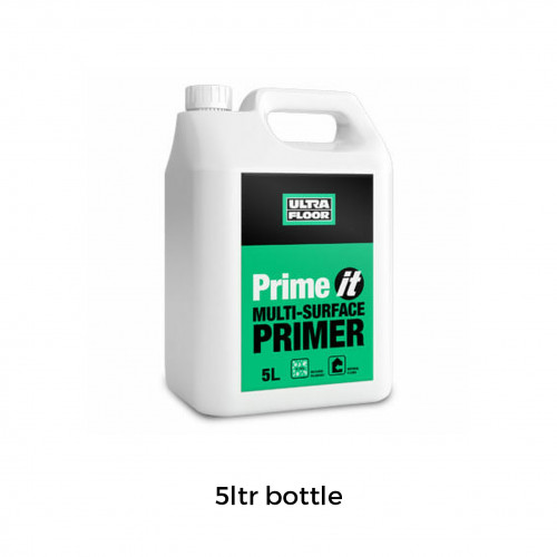 5ltr: Ultra Floor - Prime IT Multi Surface Primer - Moisture Tolerant Water Based Acrylic Primer Sealer and Bonding Aid suitable for porous and non-porous substrates