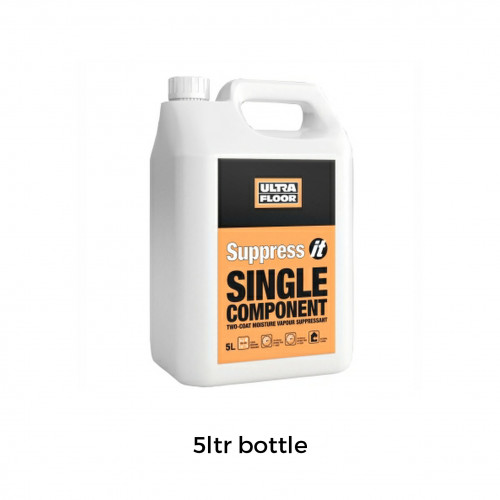 5ltr: Ultra Floor - Suppress IT - Moisture Suppressant Primer  - 2 Coat Rapid Drying 1K Water Based Solvent Free - Up to 95% RH protection