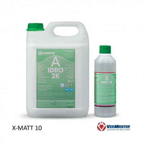 5ltr: VerMeister - Idro 2K - 2K Water Based Lacquer - ExtraMatt Natural Wood Effect 10% Sheen
