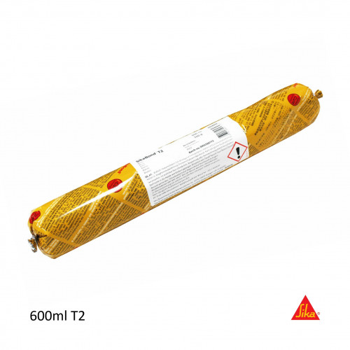 600ml: - SikaBond - T2 - Wood Flooring Adhesive - Foil Sausage