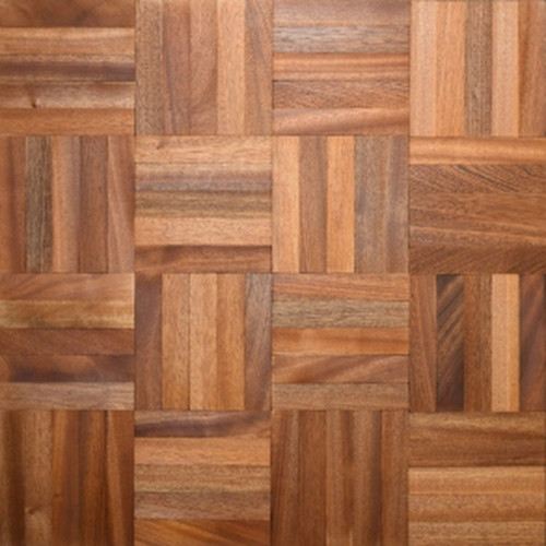 1m²: 8mm - Mahogany - Mosaic Panels - Mesh Backed - Unfinished - 480x480x8mm - (2.304m²/pk)