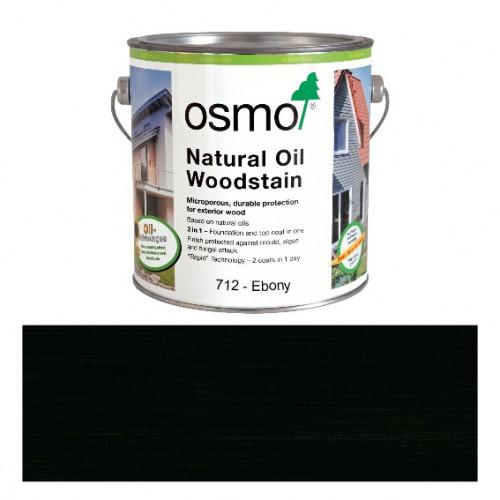 2.5ltr: Osmo - Natural Oil Woodstain - Ebony - (712D)
