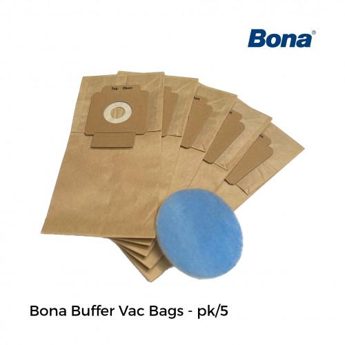1pk: Bona - Vac Bags - For Bona Buffer Mounted Vacuum - (5/pk)