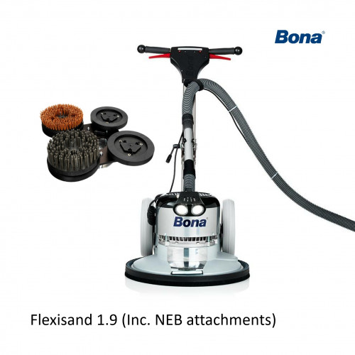 Bona - FlexiSand - Machine PD 1.9 Including Standard Drive Plate + Power Drive Connect + Sanding Discs + Intermediate Pad