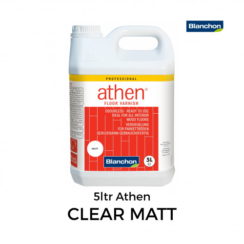 5ltr: Blanchon - Athen - Water Based 1K PU Lacquer - Clear Matt