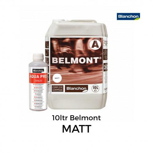 10ltr: Blanchon - Belmont - Water Based 2K PU Lacquer - Matt - Including 0.5ltr Hardener