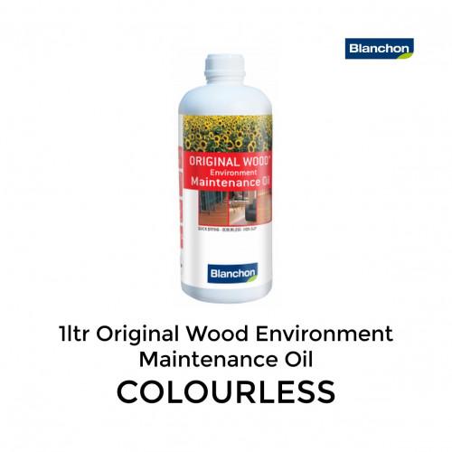 1ltr: Blanchon - Original Wood Environment - Maintenance Oil - Colourless