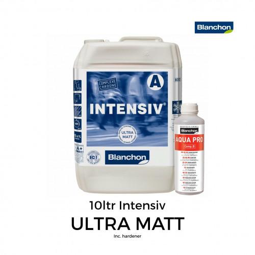 10ltr: Blanchon - Intensiv - Water Based 2K PU Lacquer - UltraMatt - Including Hardener