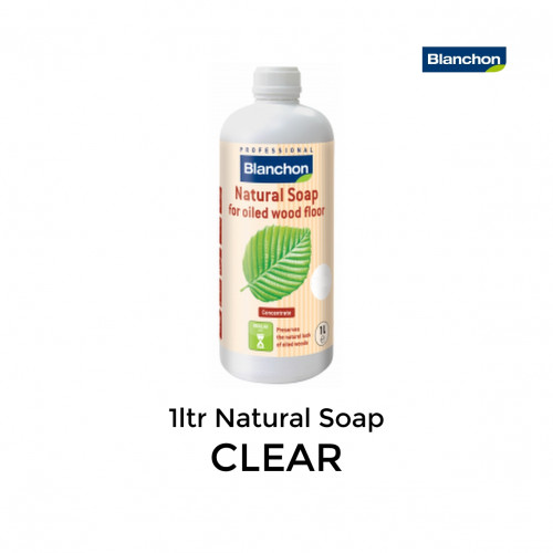 1ltr: Blanchon - Natural Soap - Clear - Cleaner for Oiled Wood Floors