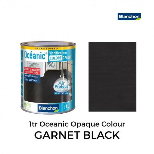 1ltr: Blanchon - Opaque Coloured Océanic - 1K Lacquer - Garnet Black