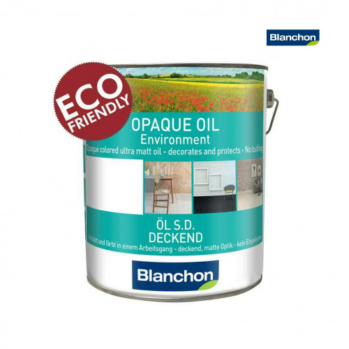 1ltr: Blanchon - Opaque Oil Environment - Water Based Coloured Oil - Pearl Grey