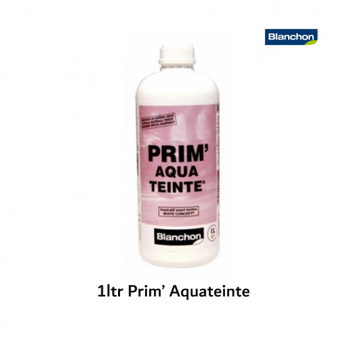 1ltr: Blanchon - Prim'Aquateinte - Primer for White Concept® System essential prior to using Aquateinte™ 2K white and pearl grey