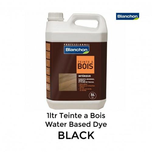 5ltr: Blanchon - Teinte a Bois - Water Based Dye - Black / Noir
