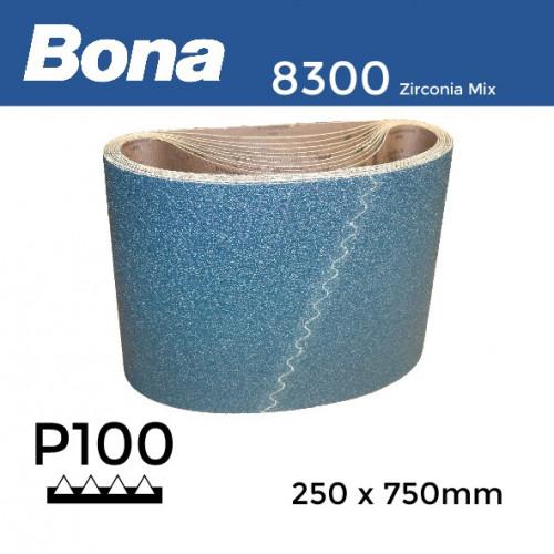 "P100 - Bona - Zirconia Mix - Anti Static Sanding Belt - 250x750mm - 10"""