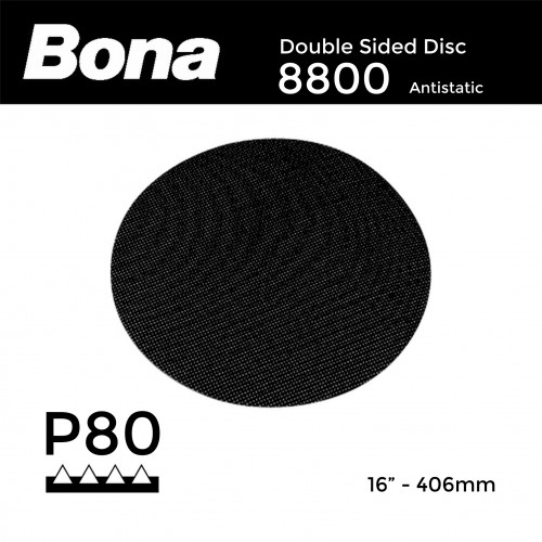"P80 - Bona - Double Sided Disc - (8800) - 407mm - 16"""