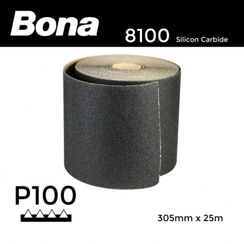 """25m Roll: P100 - Bona - Silicon Carbide - Sandpaper - 305mm - 12"""""""
