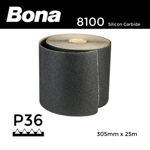 """25m Roll: P36 - Bona - Silicon Carbide - Sandpaper - 305mm - 12"""""""
