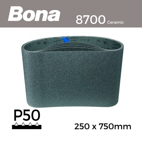 "P50 - Bona - Ceramic - Sanding Belt - 250x750mm - 10"""