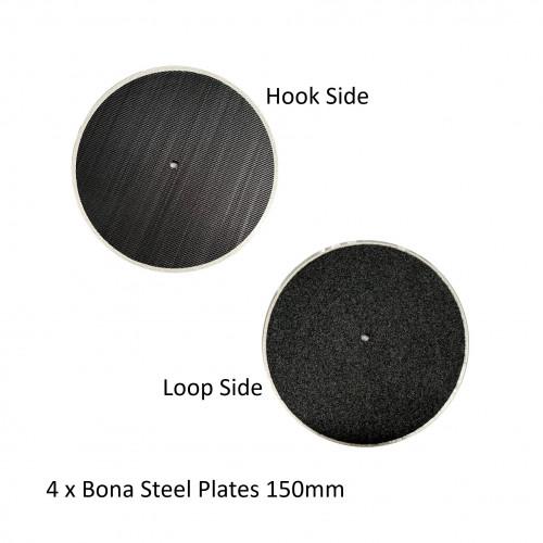 1pk: Bona - FlexiSand - Hard Steel Plates - 150mm - (4/pk)